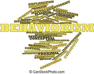 Behaviorism - Abstract word cloud for Behaviorism with...