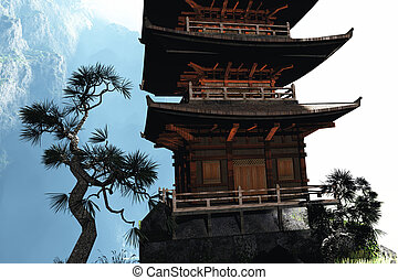Buddhist temple in the mountains - Buddhist temple