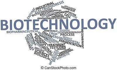palabra, nube, biotecnología