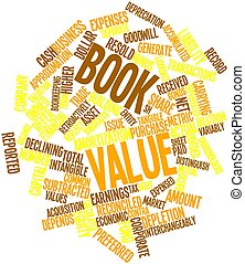 Book value - Abstract word cloud for Book value with related...
