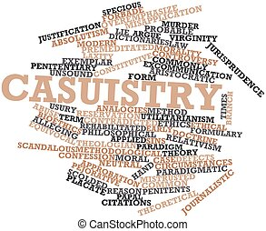 Casuistry - Abstract word cloud for Casuistry with related...