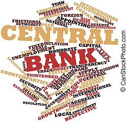 Central bank - Abstract word cloud for Central bank with...
