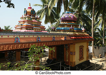 Traditional Hindu temple, South India, Kerala