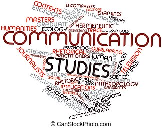 Word cloud for Communication studies - Abstract word cloud...