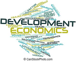 Development economics - Abstract word cloud for Development...