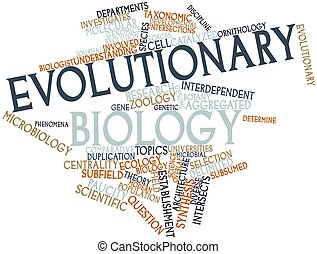 Evolutionary biology - Abstract word cloud for Evolutionary...