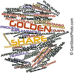 Golden share - Abstract word cloud for Golden share with...
