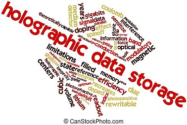 Word cloud for Holographic data storage - Abstract word...
