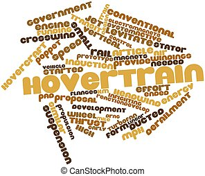 Hovertrain - Abstract word cloud for Hovertrain with related...