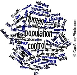 Word cloud for Human population control - Abstract word...
