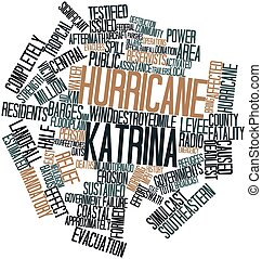 Hurricane Katrina - Abstract word cloud for Hurricane...