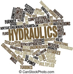 Hydraulics - Abstract word cloud for Hydraulics with related...