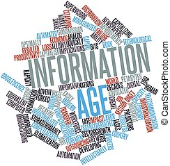 Information Age - Abstract word cloud for Information Age...