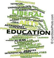 Liberal arts education - Abstract word cloud for Liberal...