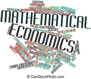 Mathematical economics - Abstract word cloud for...