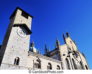 Cathedral in Como, Lombardy, Italy - Photo was taken during...