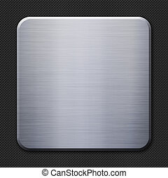 Aluminum metal plate on carbon