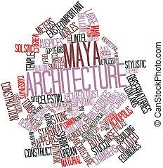 palabra, nube, maya, arquitectura