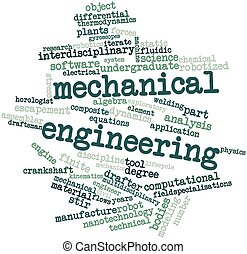 Mechanical engineering - Abstract word cloud for Mechanical...