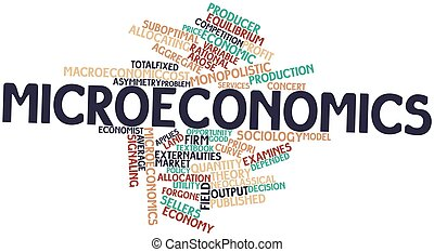 Microeconomics - Abstract word cloud for Microeconomics with...