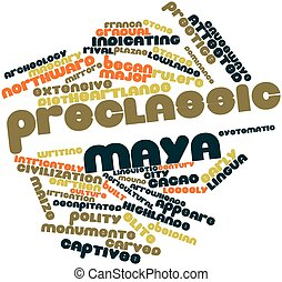 Word cloud for Preclassic Maya - Abstract word cloud for...