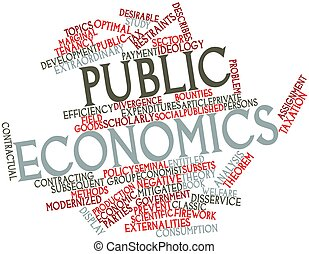 Public economics - Abstract word cloud for Public economics...