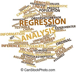 Regression analysis - Abstract word cloud for Regression...