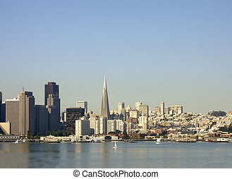 San Francisco Skyline - Skyline of San Francisco, in the...