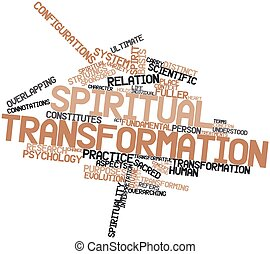 Word cloud for Spiritual transformation - Abstract word...