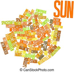 Word cloud for Sun - Abstract word cloud for Sun with...