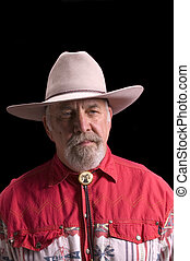 Old Cowboy looking like Buffalo Bill - Handsome olld...