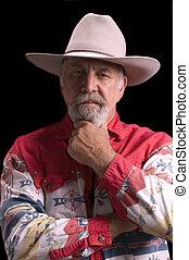 Old Cowboy looking like Buffalo Bill - Handsome olld...