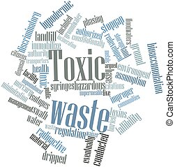 Toxic waste - Abstract word cloud for Toxic waste with...