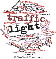 Word cloud for Traffic light - Abstract word cloud for...