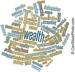 Wealth - Abstract word cloud for Wealth with related tags...