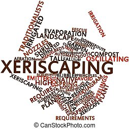 Word cloud for Xeriscaping - Abstract word cloud for...
