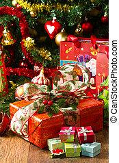 Christmas Tree and Christmas gift boxes