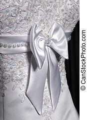 Detail of a weddings dress on a mannequin - Beautiful female...