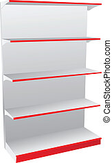 Shop shelves - Store shelves for various items and food....