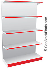 Shop shelves - Store shelves for various items and food...