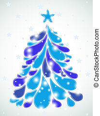 Abstract blue christmas tree. Vector - Abstract christmas...