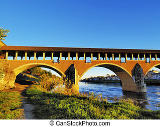 Ponte Coperto in Pavia, Lombardy, Italy - Photo was taken...