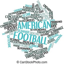 American football - Abstract word cloud for American...