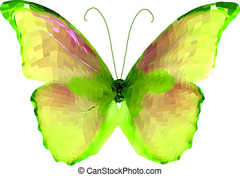 Bright butterfly. Vector