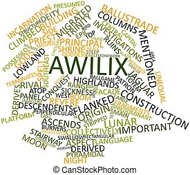 Word cloud for Awilix - Abstract word cloud for Awilix with...