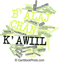 Word cloud for Balaj Chan Kawiil - Abstract word cloud for...