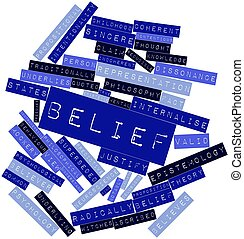 Word cloud for Belief - Abstract word cloud for Belief with...