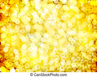 Gold christmas lights background. Vector