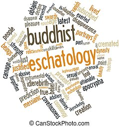 Word cloud for Buddhist eschatology - Abstract word cloud...