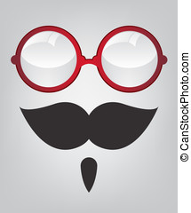 Funny mask and red sunglasses - Funny mask red sunglasses...